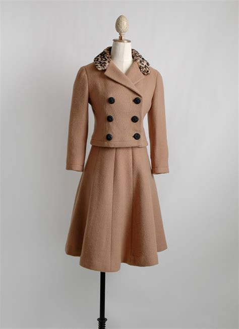 leopard collar jacques heim suit hemlock vintage