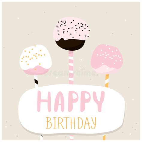 birthday cake shaped card template cake pops with happy birthday wish greeting card