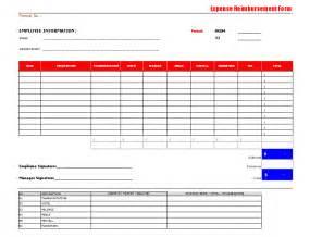 employee expense reimbursement form template best photos of business expense reimbursement form