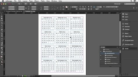 typography tutorial lynda calendar design tutorial making the calendar tables