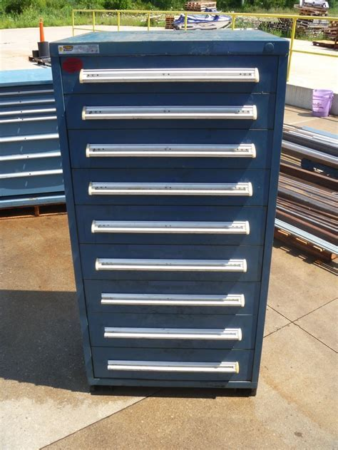 9 drawer Stanley Vidmar cabinet as shown up for auction