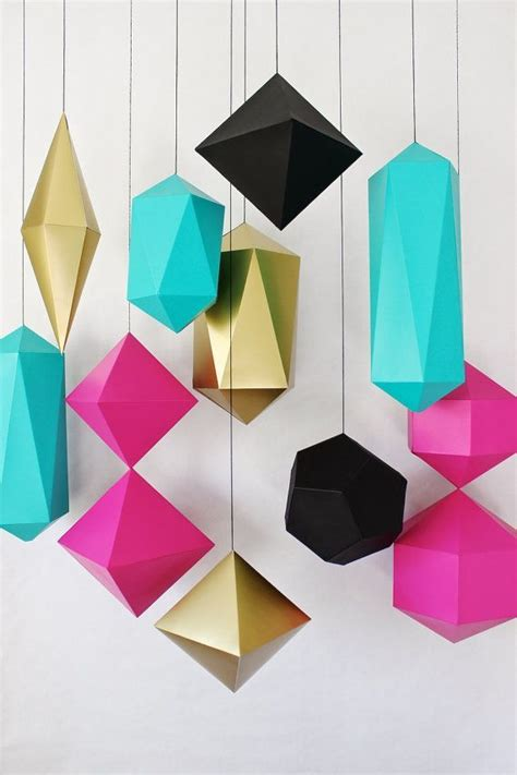 How To Make Paper Geometric Shapes - 190 best paper images on flowers crafts