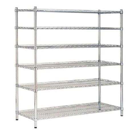Where To Buy Shelving Units Hdx 48 In W X 72 In H X 18 In D Decorative Wire Chrome