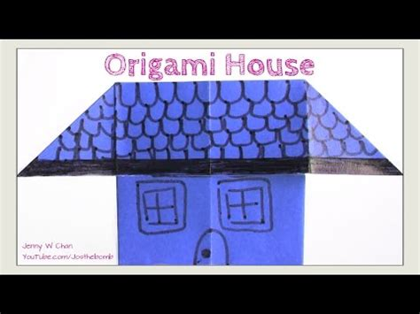 Paper Folding House - easy origami house how to fold simple origami for