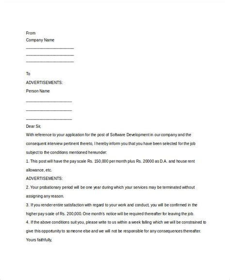 appointment letter myeg company appointment letter template 10 free word pdf