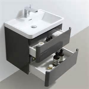 Bathroom Vanity Width Zenit 600mm White Gloss Wall Hung Bathroom Vanity Unit Inc