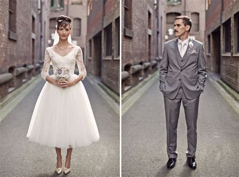 Vintage Wedding Hair And Makeup Melbourne by 1950s Inspired Retro Australian Wedding Chic Vintage Brides