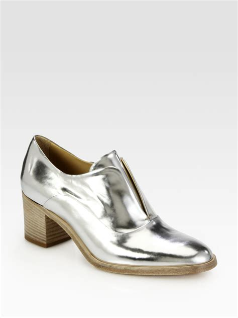 reed krakoff oxford shoes reed krakoff specchio metallic leather laceless oxford