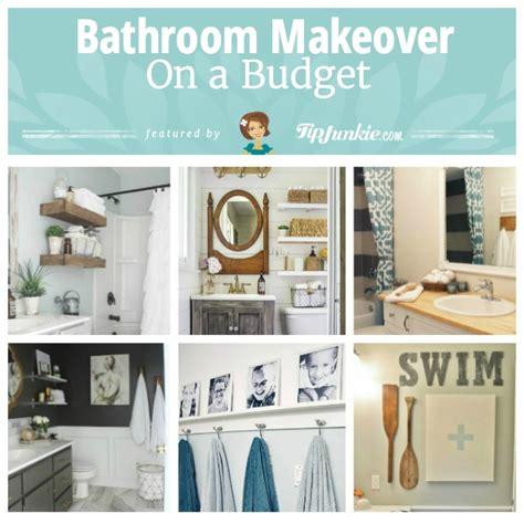 diy bathroom makeover on a budget 20 easy diy bathroom ideas step by step tip junkie