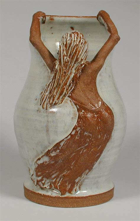 Figure Vase by Funkware Pottery Sculpture Vessels With Sculptural Elements