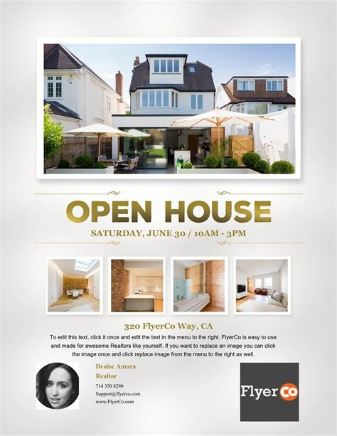 Real Estate Listing Flyers Real Estate Marketing Blog Open House Flyer Template Free