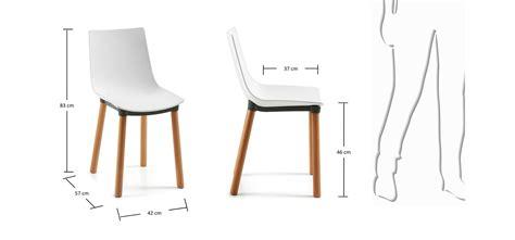 siege de cuisine hauteur sedia in polipropilene bianco e legno