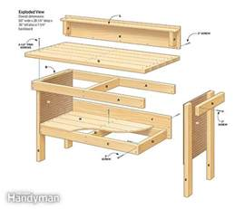 Simple Work Bench Plans Classic Diy Workbench Plans The Family Handyman