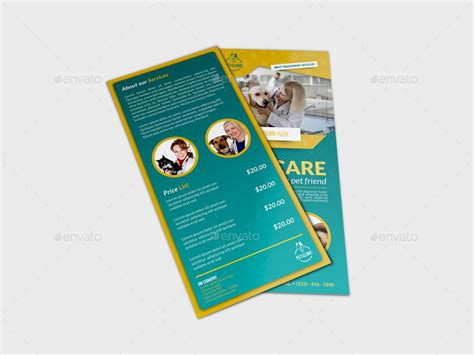 free templates for dl flyers veterinarian clinic dl flyer template by owpictures
