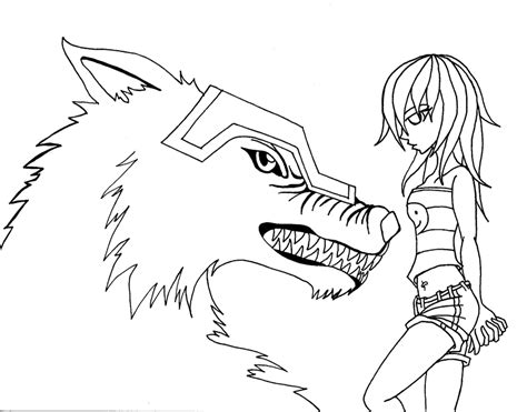 anime wolf coloring page anime wolf demon coloring pages coloring pages