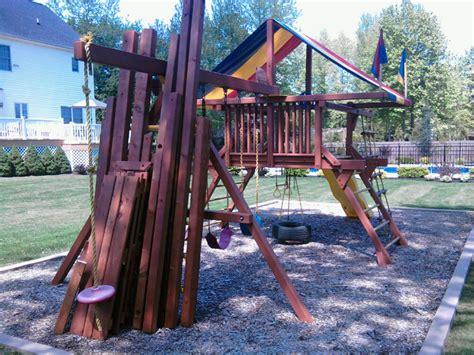 redwood swing set restoring a redwood swing set by mark lumberjocks com