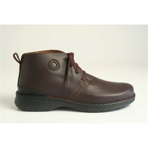 josef seibel everton lace up boot in brown leather 26308
