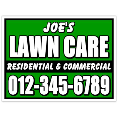 Landscape Yard Signs Yard Work Signs Lawn Care Sign Landscaping