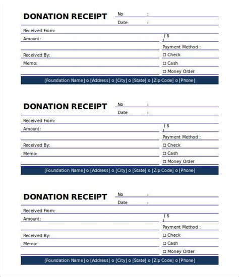 Decimal Receipt Project Template by Printable Donation Receipt Template Free The Proper