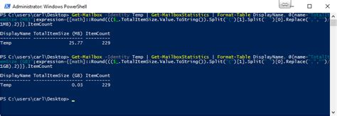 item display dimensions office365 powershell how to the find out mailbox sizes in office365 and exchange 2016 using