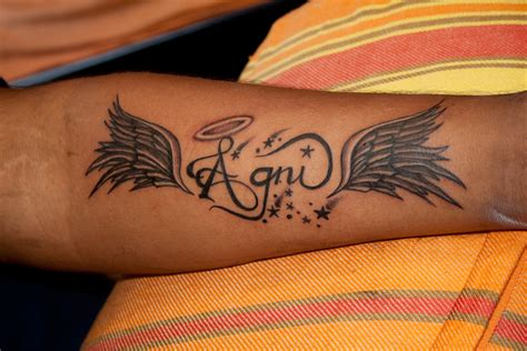Angel Tattoos And Designs Page 412 Wing Tattoos With Name