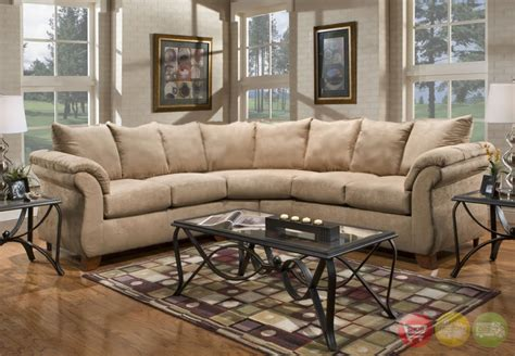 beige fabric sectional sofa sensations camel beige microfiber fabric sectional sofa