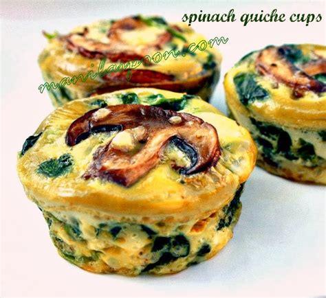Spinach Quiche Cups   Manila Spoon