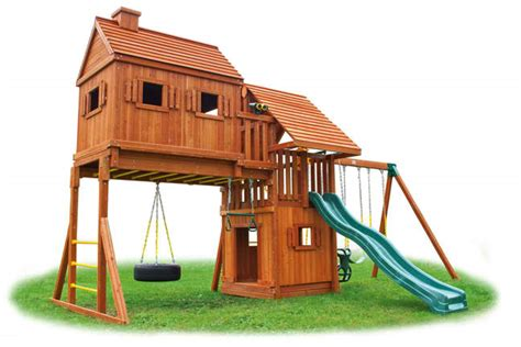 Swing House by Tree House Playset 4 Tree House Swing Set 4