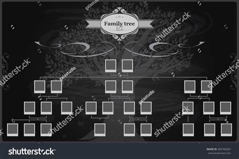 Genealogical Tree Your Family Hand Drawn Oak Stock Vector 303704267 Shutterstock Vintage Genealogical Family Tree Sketch Vector Illustration Stock Vector