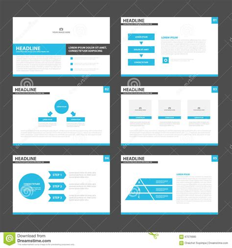 presentation layout image blue black presentation layout templates infographic