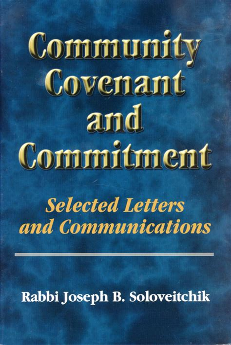 Commitment Letter O Que Community Covenant And Commitment Selected Letters And Communications Ou Press