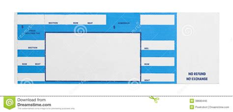 ticket stub template blank concert ticket clipart