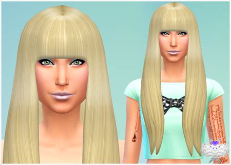 sims 4 long wavy hair without bangs poker face hair david sims