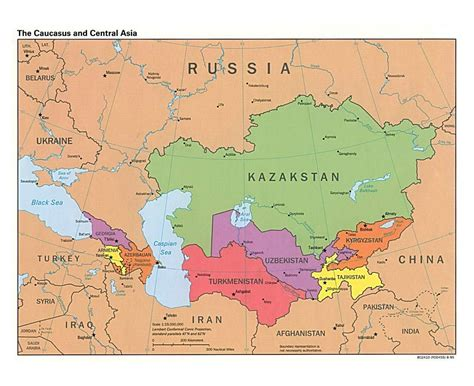 political map of asia with capitals maps of the caucasus and central asia caucasus and