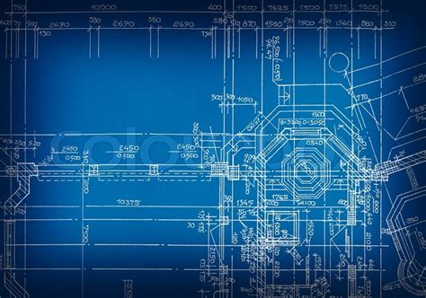 Cad Floor Plans Free architectural drawing made by hand on a blue background