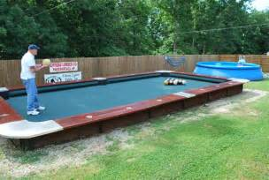 Pool Table Pockets You Won T Believe This Life Size Backyard Pool Bowling