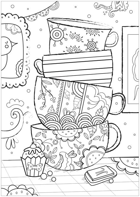 zen anti stress coloring book cups zen and anti stress coloring pages for adults