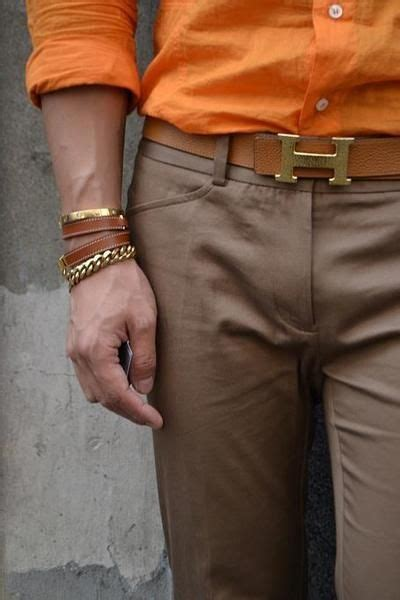 Hermes Need I Say More by Orange Shirt Works Well With Mocha Colored
