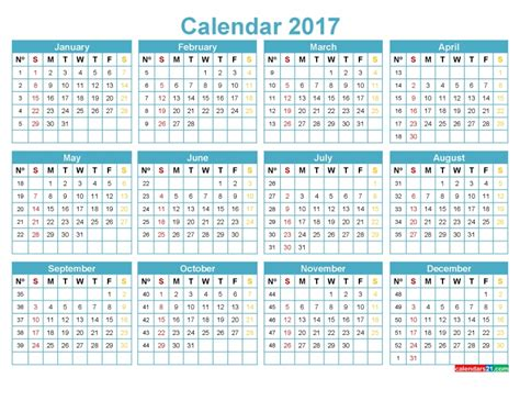 calendar with week numbers printable free calendar template