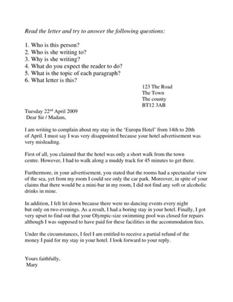 Complaint Letter Year 3 Complaint Letters By Sjb1987 Teaching Resources Tes