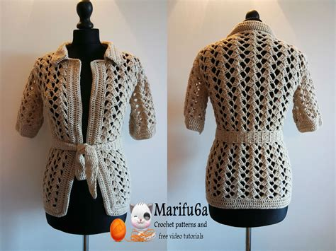 jacket pattern making youtube how to crochet beige jacket free tutorial pattern by