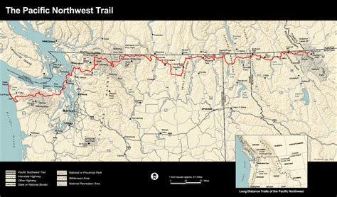 pacific northwest map pacific northwest trail map photos diagrams topos summitpost