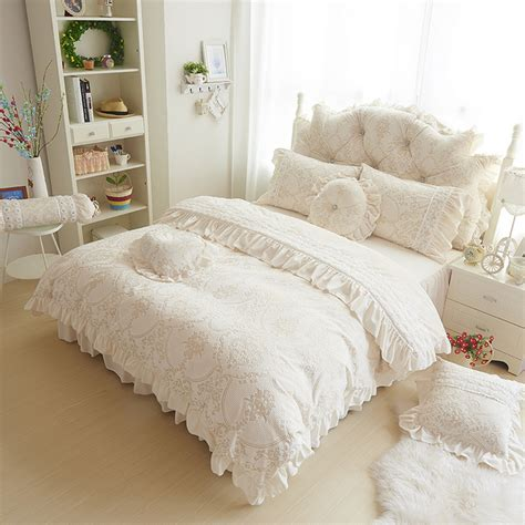 Fleece Bed Sets Soft And Warm Velvet Bedding Sets Princess Lace