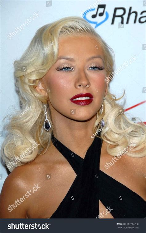Did Aguilera Go Nuts At The Grammy Awards by Aguilera At The 2007 Clive Davis Pre Grammy