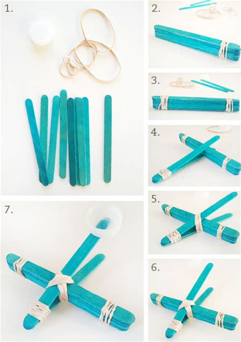 How To Make A Paper Catapult - diy popsicle stick airplane catapult paper