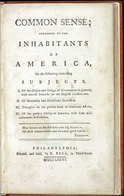 common sense annotated books 1750 to 1800 books that shaped america exhibitions