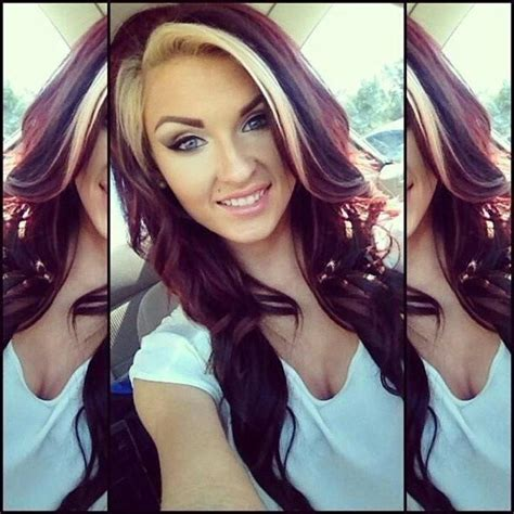 red hair  blonde highlights   post