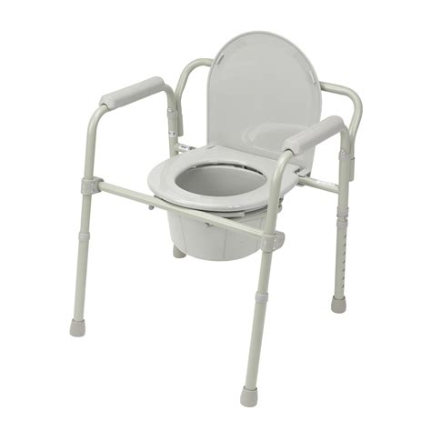Folding Steel Commode by Drive Folding Steel Bedside Commode Mobiliexpert