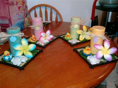 Baby Showers Hawaii by Luau Baby Shower Candle Centerpieces My Creations