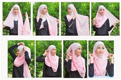 tutorial hijab syari dengan pasmina tutorial hijab syar i menutup dada untuk ke pesta